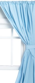 Carnation Home Fashions Vinyl Bathroom Window Curtain, Light Blue