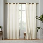 2 Panel Curtain 100% Cotton very thick material 60 Width wise & 84 Inch Length Wise Ivory Solid