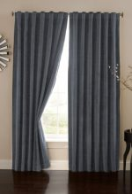 Absolute Zero Velvet Blackout Home Theater Curtain Panel, 84-Inch, Stone Blue