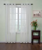 Arm and Hammer Curtain Fresh Odor Neutralizing Sheer Curtain Panel, 63 Inches, White (Single panel)