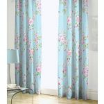 BLUE PINK ROSE FLORAL PENCIL PLEAT LINED COTTON CURTAINS DRAPES 66″ X 72″ TO MATCH DUVET