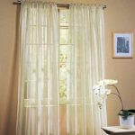 LuxuryDiscounts 2 Piece Solid Beige Elegant Sheer Curtains Fully Stitched Panels Window Treatment Drape 60″ X 84″
