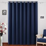 Deconovo Blackout Curtains Thermal Insulated Wide Width Curtains Grommet Room Darkening Curtains for Living Room 80 x 84 Inch Navy Blue 1 Panel