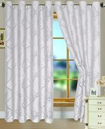 RT Designers Collection Danika Clipped Organza Grommet Window Curtain Panel, 54 x 84 inches, White