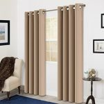 Room Darkening Soild Color Grommet Window Curtain For Living Room 3 Dimensions(52 by 84inch, Camel)