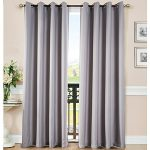 Blackout Window Curtain Panel for Bedroom and Living Room Thermal Insulated Grommet Top Drapes 1 panel(Grey, 52″84″)