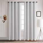 Aquazolax Premium Solid Top Ring Thermal Blackout Curtain Panels for Living Room (Set of 2 Panels, 52×84 Inch, Greyish White)