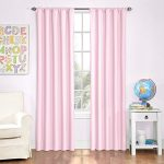 Eclipse Kids Microfiber Blackout Window Curtain Panel, 42 by 84-Inch, Pink