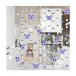 LingStar 1m Glass Crystal Beads Chain Curtain Window Passage Wedding Backdrop Purple Butterfly 1pcs