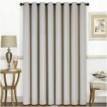 Mellanni Thermal Insulated Blackout Curtains – 1 Panel – Window Treatments / Drapes for Bedroom, Living Room with Silver Grommet and 1 Tieback (1 Panel, 84″ x 100″, Beige)