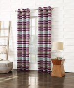 Sun Zero Lela Tribal Stripe Energy Efficient Curtain Panel, 40″ x 84″, Magenta