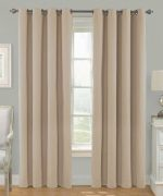 Awad Home Fashion 2 Piece Solid THERMAL BLACKOUT Grommet Window Panel Curtain Drapes 55″W x 63″L, Taupe