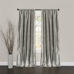 Lush Decor Velvet Dream Window Curtain Panels, 84 by 40-Inch, Silver, Set of 2