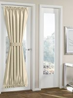 RHF Blackout French Door Curtains – Door Panel 54W by 72L Inches-Beige