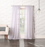 No. 918 Tayla Crushed Sheer Voile Rod Pocket Curtain Panel, 50″ x 95″, White