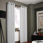 Gorgeous Home (#32) 1 PANEL SOLID PLAIN THERMAL FOAM LINED BLACKOUT HEAVY THICK WINDOW CURTAIN DRAPES SILVER GROMMETS (PURE WHITE, 84″ LENGTH)