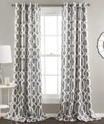 Lush Decor Edward Room Darkening Window Curtain Panel, 84 x 52-Inches,Gray, (Set of 2)