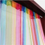 Okeler 6 Color Colorful Door Window Panel Room Divider Cute Curtain String Strip Tassel in Party Events