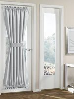 RHF Blackout french door curtains/panel 54W by 72L Inches-grey