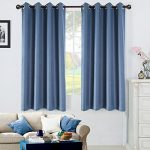 Blackout Window Curtain Panel for Bedroom and Living Room Thermal Insulated Grommet Top Drapes 1 panel(Navy, 42″63″)