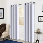Room Darkening Soild Color Grommet Window Curtain For Living Room 3 Dimensions(52 by 84inch, Off white)