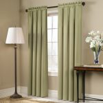 American Curtain and Home Solid Blackout Window Curtain, 54-Inch by 63-Inch, Sage