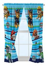 Nick Jr Paw Patrol Puppy Dog Fun Window Drapes, 82 x 63″