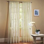 LuxuryDiscounts 2 PC Solid Rod Pocket Sheer Window Curtain Treatment Drape Voile Panels In Variety Of Colors (55″x84″, Beige)