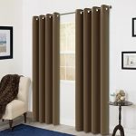 Room Darkening Soild Color Grommet Window Curtain For Living Room 3 Dimensions(52 by 63inch, Chocolate)