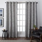 Exclusive Home Finesse Faux Linen Grommet Top Window Curtain Panels 54″ X 108″, Ash Grey, Set of 2 / PAIR