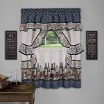 Achim Home Furnishings Chateau Window Curtain Cottage Set, 57″ X 36″, Navy