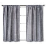 Circo Dot Print Grey Light Blocking Window Curtain Panels (2, 84″X42″)