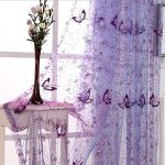 Pureaqu Butterfly Embroidered Sheer Curtain for Living Room Sexy Tulle W39xH84 Balcony Windows Curtain Rod Pocket Process Draperies 1Panel