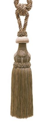 Decorative Beige Multi Tone Curtain & Drapery Tassel Tieback /12″ tassel, 32″ Spread (embrace), 7/16″ Cord, Baroque Collection Style# TBBL-1 Color: Sandstone 7245