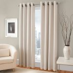 Gorgeous Home (#60) 1 PANEL SOLID IVORY OFF WHITE THERMAL LINED FOAM BLACKOUT HEAVY THICK WINDOW TREATMENT CURTAIN DRAPES SILVER GROMMETS (84″ LENGTH)