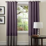 Lush Decor Prima Curtain Panel Pair, 54-Inch by 84-Inch, Gray/Purple