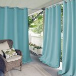 Elrene Home Fashions 20866ELR Connor Indoor/Outdoor Solid Grommet Panel Window Curtain,Turquoise,52″ X 108″