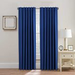 H.Versailtex Thermal Insulated Blackout Curtains – Back Tab / Rod Pocket Window Drapes for Living Room – Royal Blue – 52″W x 84″L – No Tie Backs (Set of 2 Panels)
