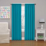 Eclipse Kids Microfiber Blackout Window Curtain Panel, 63-Inch, Rich Teal