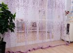 Curtains Odeer Window Screens Door Balcony Curtain Panel Sheer Cover (Size : 39.4inch x 98.4inch) (Color : Purple)