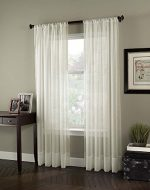 Curtainworks Soho Voile Sheer Curtain Panel, 59″ by 95″, Oyster