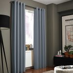 Gorgeous Home (#32) 1 PANEL SOLID DARK GRAY THERMAL FOAM LINED BLACKOUT HEAVY THICK WINDOW TREATMENT CURTAIN DRAPES SILVER GROMMETS * AVAILABLE IN DIFFERENT SIZES * (63″ LENGTH)