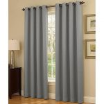 Gorgeous HomeDIFFERENT SOLID COLORS & SIZES (#34) 1 PANEL SOLID THERMAL FOAM LINED BLACKOUT HEAVY THICK WINDOW CURTAIN DRAPES SILVER GROMMETS (SILVER GRAY, 84″ LENGTH)