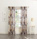 No. 918 Andorra Floral Print Crushed Voile Curtain Panel, 51″ x 84″, Multi