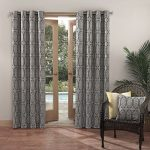 Sun Zero Antigua Indoor Outdoor UPF 50+ Curtain Panel, 52″ x 84″, Indigo Blue