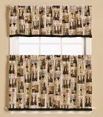 Vino Curtain Set – 36″ Tier and Valance