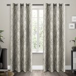 Exclusive Home EH7995-02 2-84G Branches Grommet Top Window Curtain Panels (Set of 2), 54″ x 84″, Natural