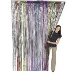 Metallic Rainbow Foil Fringe Shiny Curtains for Party, Prom, Birthday, Event Decorations 3 ft x 8 ft (1 Curtain) by Super Z Outlet
