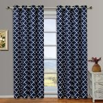 Set of 2 Panels 104Wx63″L -Royal Tradition – Meridian – Navy- Thermal Insulated Blackout Curtain, 52-Inch by 63-Inch each Panel. Package contains set of 2 panels 63 inch long. …