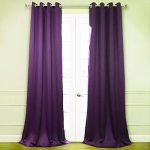 GorgeousHomeLinen *Various of Colors* 1 Piece #72, length 108″ Solid Insulated Foam Backing Lined Blackout Hotel Quality Grommet Top, Shiny Silky Window Curtain Panel (purple)